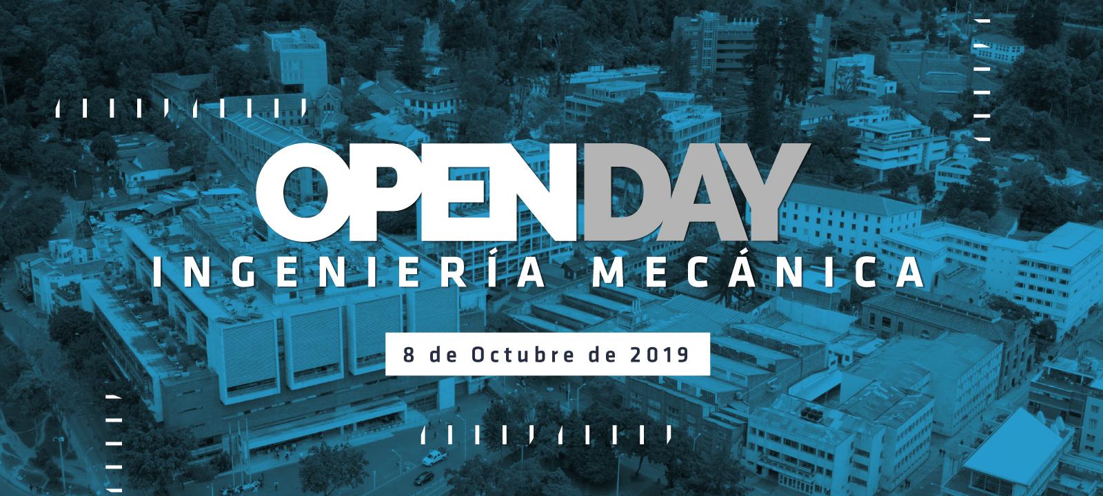 Invitación para el Open Day organizado por el Departamento de Ingeniería Mecánica