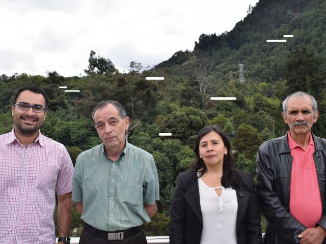 Profesores Andrés González, Alvaro Pinilla, Rocio Sierra, Gerardo Gordillo | Uniandes
