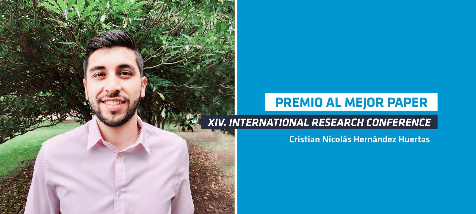 Cristian Hernandez fue galardonado en el IRC 2020
