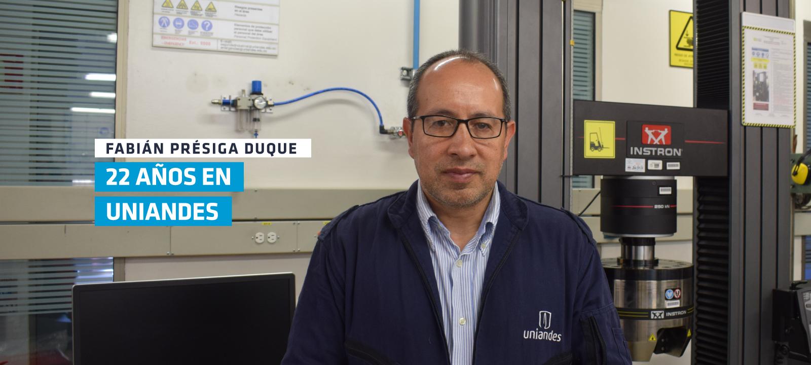 En enero de 2020, Fabián cumplió 22 años al servicio de la Universidad de los Andes
