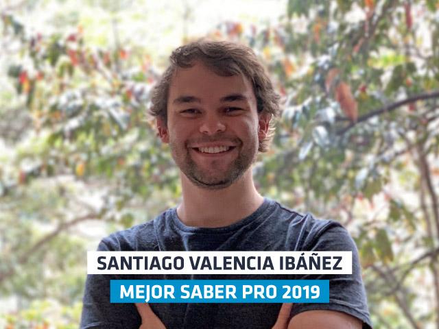 Santiago fue galardonado como el mejor saber pro del 2019