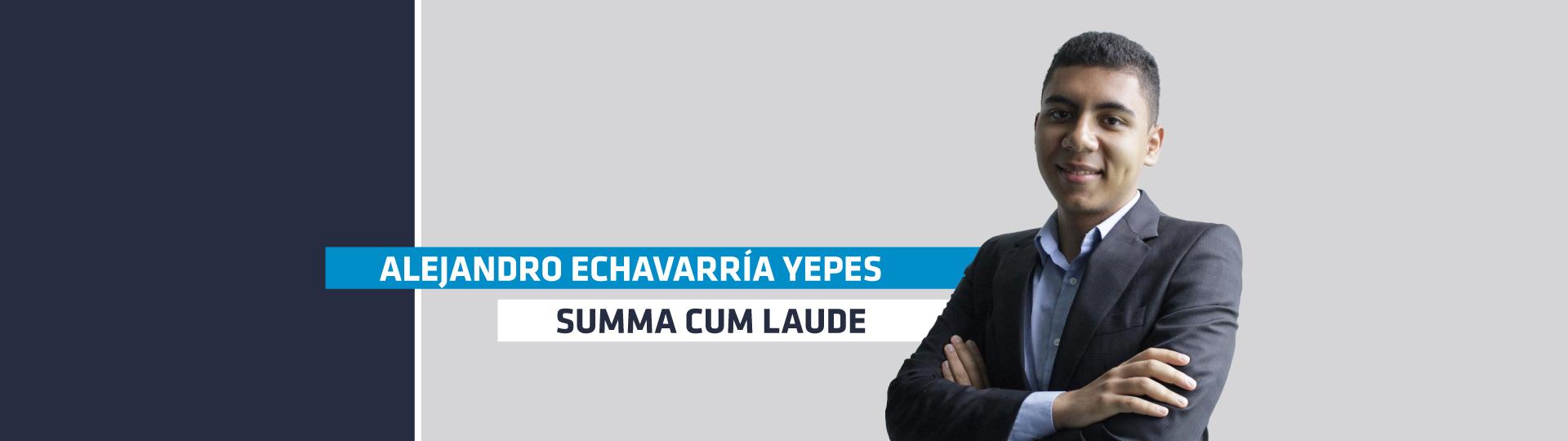 Alejandro Echavarría fue condecorado con la distinción Summa Cum Laude