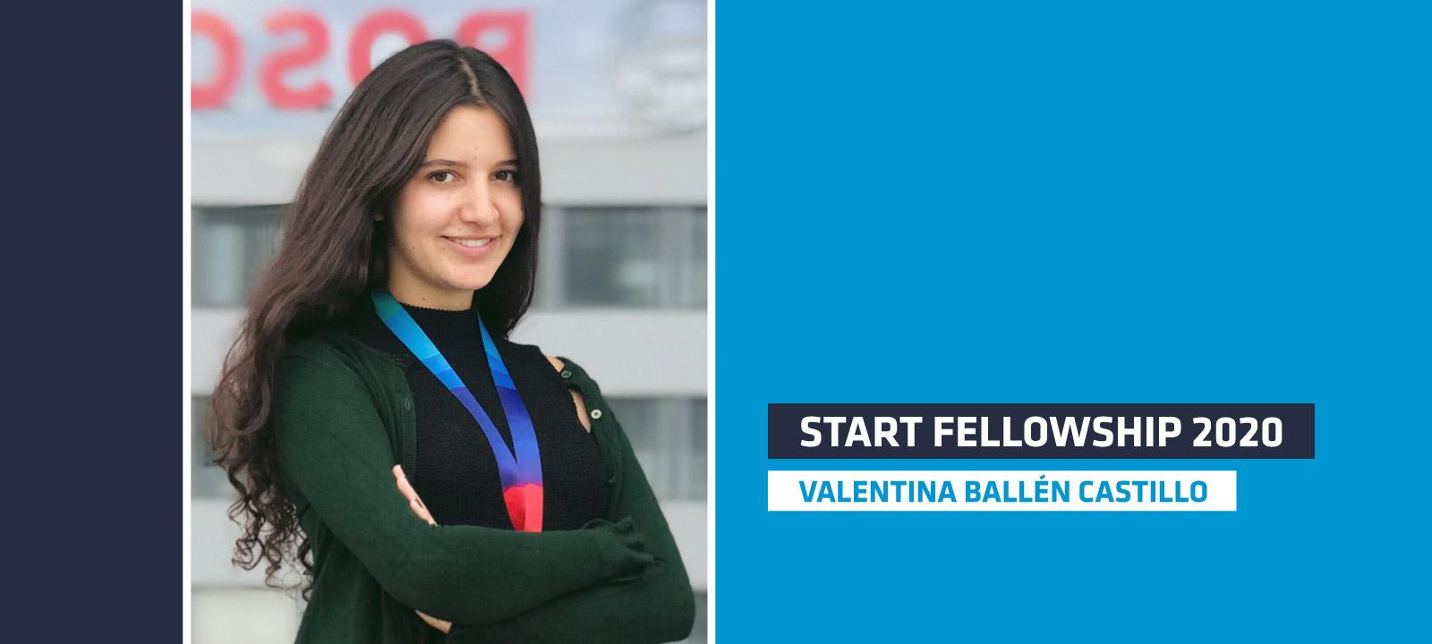 Valentina Ballén Castillo, estudiante de Ingeniería Mecánica, fue seleccionada en el programa START Fellowship 2020