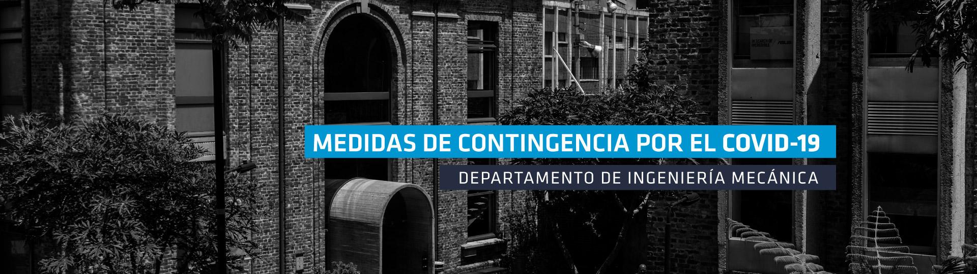 Comunicado del Departamento de Ingeniería Mecánica sobre el COVID-19