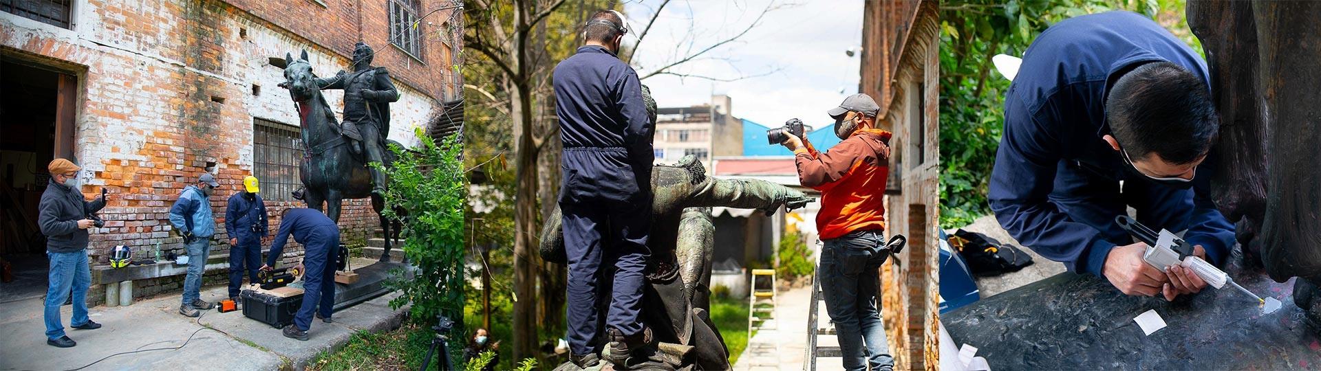 El Departamento de Ingeniería Mecánica examina el Bolívar ecuestre