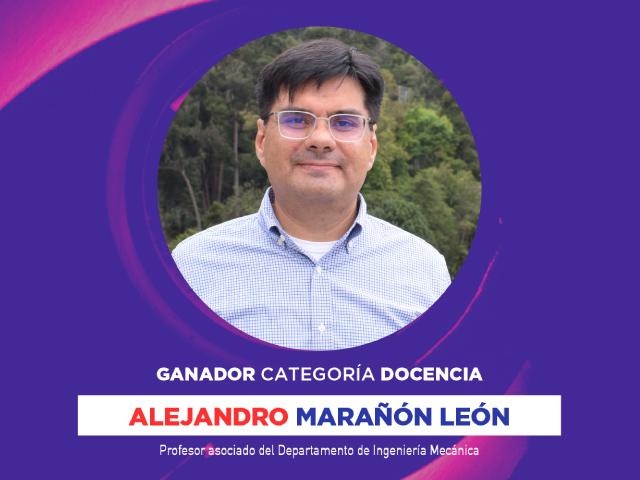Alejandro Marañón, ganador en la categoría de mejor docente