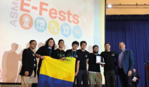 Estudiantes de Ingeniería Mecánica viajaron a Perú a representar a Uniandes en tres competencias del ASME E-fest 2019